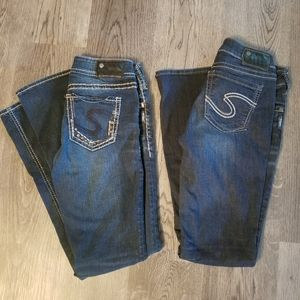 2 pairs of Silver Jeans Size 27